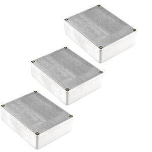 3Pc-1590BB-in-Alluminio-Stile-Pro-metallo-Stomp-Box-Case-Custodia-per-Chitarra-Effetto-Pedale