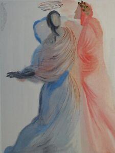 Dali Salvador: Paradise 18 - Holz Graviert Original # Göttliche Komödie, 1960