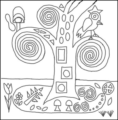 """Alfombra De Enganche patrón /""""Klimt almohada/"""" de lino natural"""