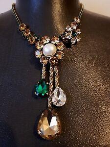 Vintage-original-Alcozer-J-necklace-Signed-Rare