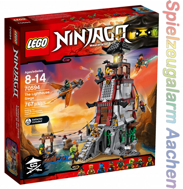 LEGO 70594 Ninjago Die Leuchtturmbelagerung The Lighthouse Siege Phare N16/8