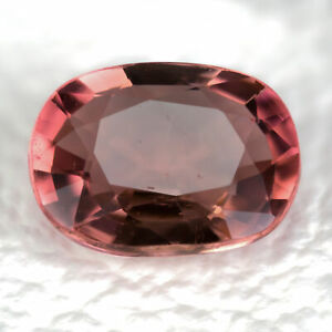 Tourmaline 1.41ct. A peach brown, unheated gem. Oval cut and mined in Mozambique