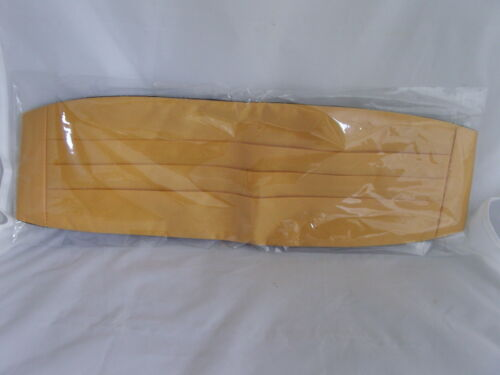 istruire /> P /& P 2UK /> 1st Class Poliestere Giallo AUTO-Tie Papillon /& Fascia dello smoking Set