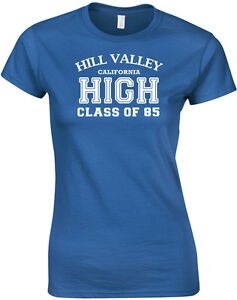 Hill-Valley-Class-of-85-Back-to-the-Future-inspired-Ladies-Printed-T-Shirt-Tee