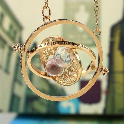 Stylish Art Harry Potter Hermione Pendant Rotating Pendant Necklace Time Tuner