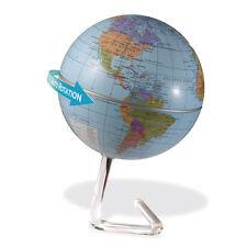 Drehender Deko Globus Weltkugel politisch mit Batteriebetrieb und Designständer