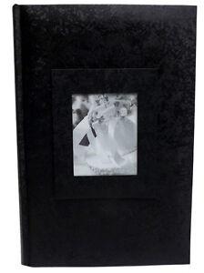 black wedding albums 300 photo 4x6 size set of 2 albums ebay. Black Bedroom Furniture Sets. Home Design Ideas