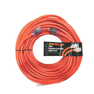 century wire 10 3 100 stw heavy duty extension cord w lighted end orange ebay
