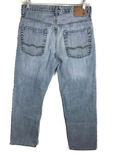 32x32 Jeans Eagle Distressed American R Low Hommes Tag Light Loose Taille w8WPOg