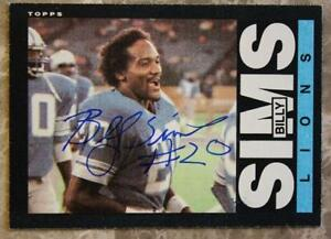 Image is loading Detroit-Lions-Hall-of-Famer-Billy-Sims-autographed- 713d7c2cc
