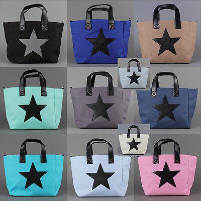 Trend '16 Schulter Umhänge Tasche Vintage Stoff Shopper Star Stern Cross Bag NEU