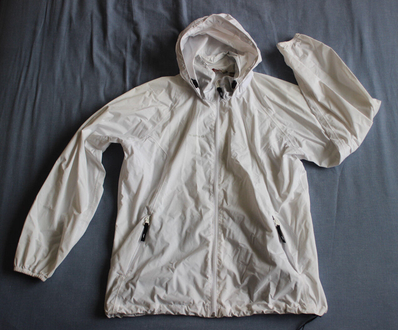 Lafuma Women's White Raincoat Coat Size XL Good Used Condition