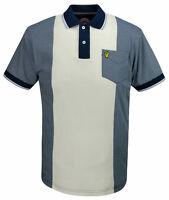Mens Wigan Casino Stripe Panel Polo Shirt Mod Ska Wc 2021 - Navy Blue