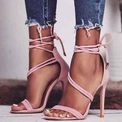 Summer Women's Heels Lace Up High Heels
