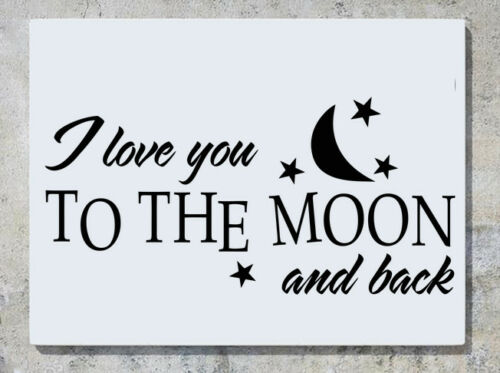I Love You To The Moon And Back Quote Motto Wall Decal Art Sticker Picture