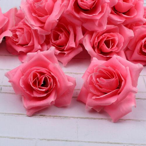 Wholesale 20-100PCS 8cm Roses Simulation flowers DIY silk flower heads wedding