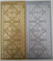 2 sheets of Corners and Borders Peel-offs (1) Gold and Silver  48 in total and 6