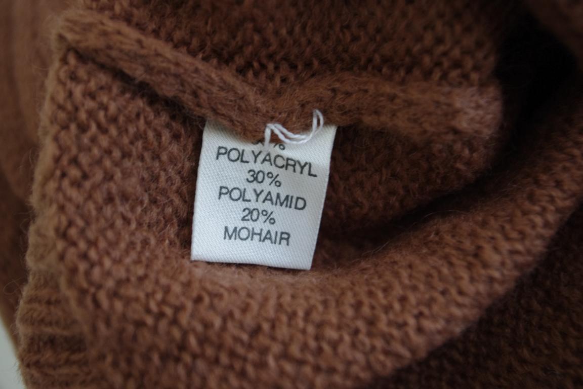 Da Donna Mohair Mohair Mohair DOLCEVITA NOS CAMEL True Vintage Taglia 40 Marronee 80er OVP 80s a658aa