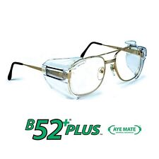 SOS B52+ Clear Safety Glasses Side Shields for Medium to Large Glasses