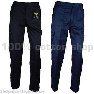 Blackrock-Baratec-Work-Cargo-Action-Trousers-Pants-Knee-Pad-Pockets-Black-Navy