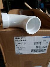 1-1//2 Hub NIBCO 4807 Series PVC DWV Pipe Fitting 90 Degree Elbow