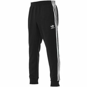 890c589d0374 Image is loading ADIDAS-SUPERSTAR-CUFFED-TRACK-PANTS-Black-White-old-