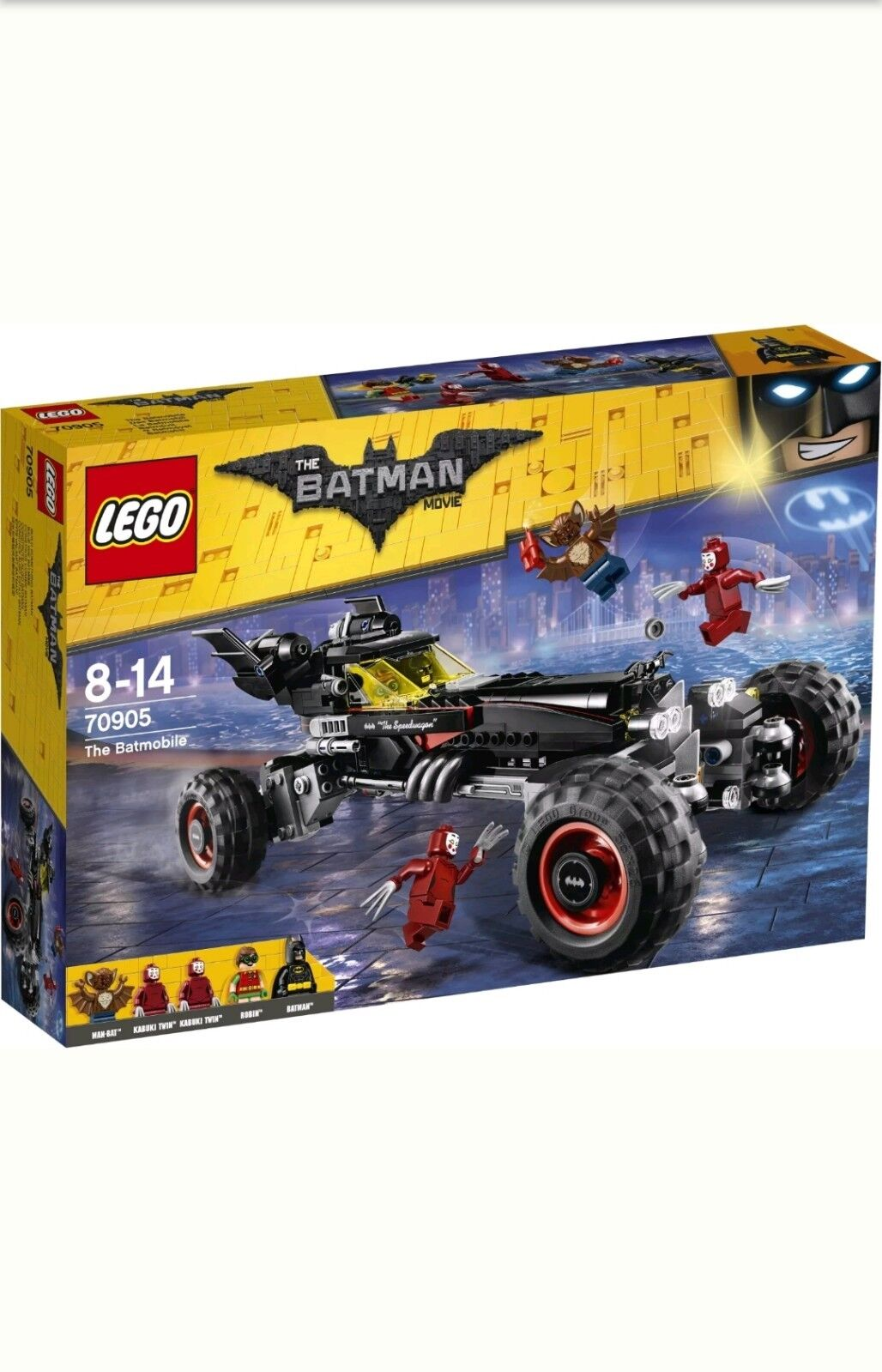 Boîte Mini Scellée 5 Lego Film Figurines La Neuf Batmobile Batman srQtdCh