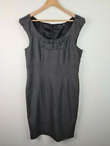 PORTMANS Grey Pinafore Sheath Dress Women's Size 16 Corporate Business AU MADE