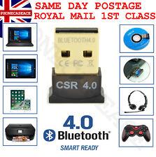 USB Bluetooth V4.0 CSR Wireless Mini Dongle Adapter For Win7 8 10 PC Laptop