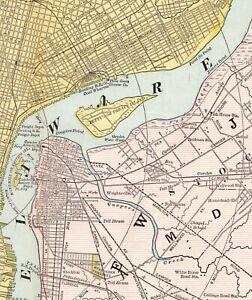 Details about 1890 Antique PHILADELPHIA City MAP Vintage Map of  Philadelphia Pennsylvania 6542