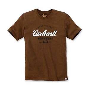 Carhartt-Herren-T-Shirt-bedruckt-Logo-Made-To-Last-Kurzarm-Tee