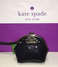 NWT Kate Spade Posie Salinas Place Small Black Sequin Wristlet $145