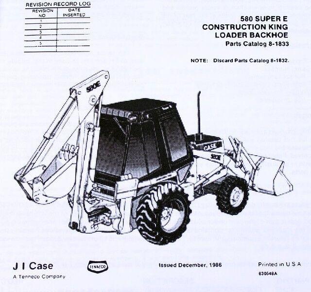Case Backhoe Parts >> Case 580e 580se 580 Super E Loader Backhoe Parts Assembly Manual Catalog Book