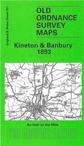 Banbury England Map.Old Ordnance Survey Map Kineton Banbury Shipton On