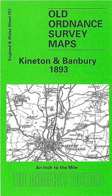 OLD ORDNANCE SURVEY MAP KINETON BANBURY 1893 SHIPTON ON STOUR MIDDLETON CHENEY