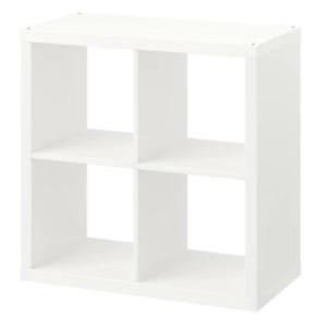 IKEA Kallax Regal weiß mit 2 Körben Branäs