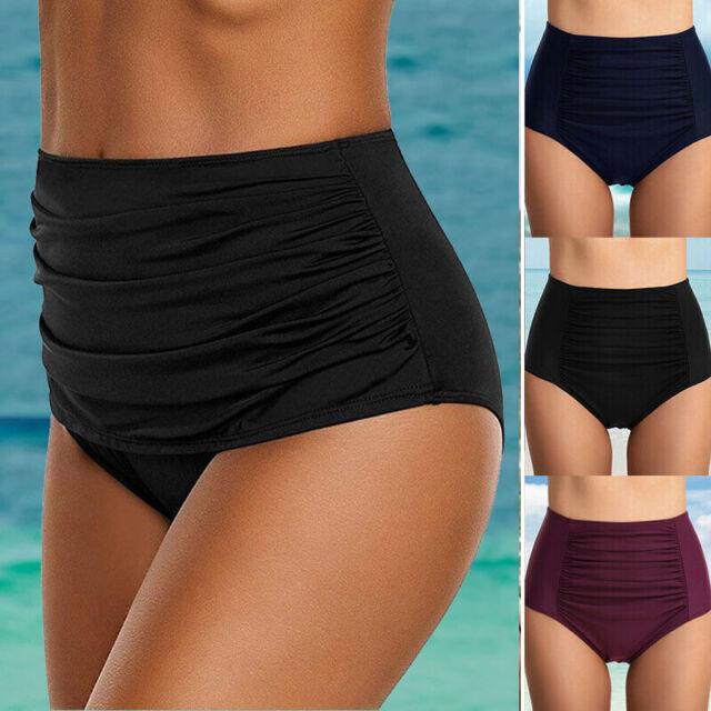 Women/'s Mossimo Swimwear Black High Waist Bikini Bottoms Swimsuit Size XL