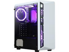 DIYPC DIY-Model X-W-RGB White Steel / Tempered Glass ATX Mid Tower Computer Case