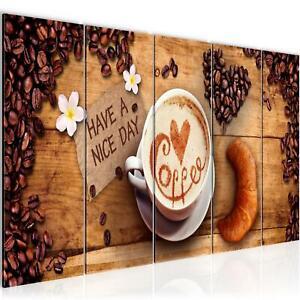 Details zu WANDBILDER Küche XXL Kaffee Coffee BILDER VLIES LEINWAND BILD  KUNSTDRUCK
