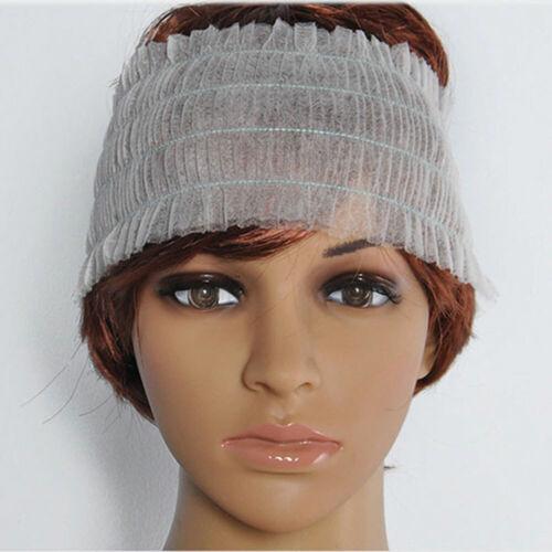 Non-woven 50Pcs Spa Elastic Disposable Headbands Headband Makeup Hairband #NE8