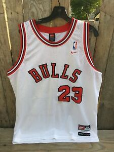 low priced c4fbc 0df69 Details about Vintage NIKE Authentic 8403 Chicago Bulls #23 MICHAEL JORDAN  Jersey Extra Large