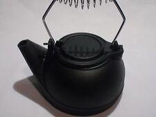 Fireplace Kettle Humidifier Pot Steamer Cast Iron 3 Quart Black ...