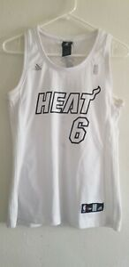Details about LeBron James #6 Miami Heat NBA White Hot Jersey women M