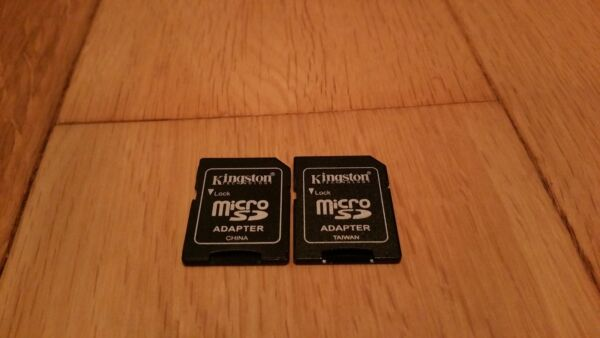 2x Kingston Microsd To Sd Adapter Converter 2gb And Higher Sdhc Sdxc Uitstekend In Kusseneffect