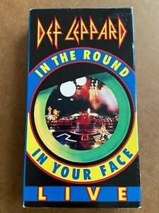 Def-Leppard-In-The-Round-In-Your-Face-1989-Rare-VHS-Hair-Metal-FREE-SHIPPING