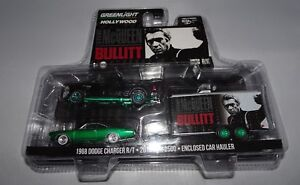 Greenlight Bullitt 2016 Dodge Ram 2500 & 1968 Chargeur 1/64 Vert Machine