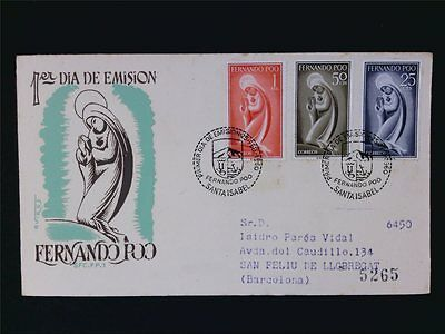 Spanien & Kolonien WohltäTig Fernando Poo Fdc 1960 Jungfrau Maria Madonna C6102