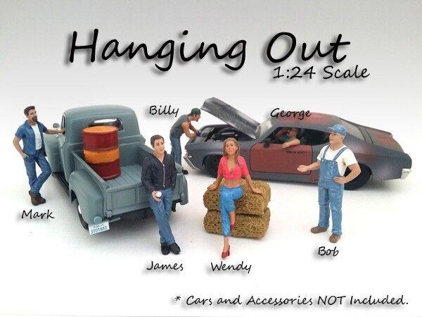 Hanging Out - tutti 6 cifraS - 1 24-G 24-G 24-G Scale cifra figurine - American Diorama 71198b