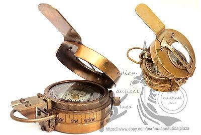 Motiviert MilitÄrer Engineering Prismatic Compass Messing Vintage Compass Ausgezeichnet Im Kisseneffekt Technik & Instrumente
