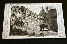 belgique CPA ypres la conciergerie circulée 1915 FELDPOST